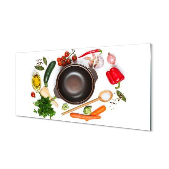 tulup.hu Konyhai üveg panel Spoon paradicsom petrezselyem