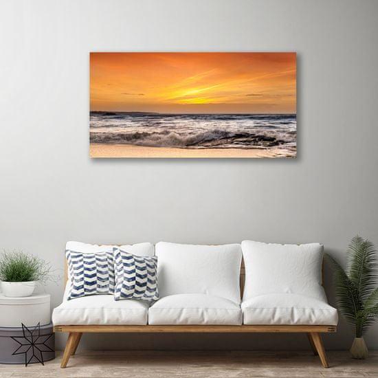 tulup.cz Obraz Canvas More slnko vlny krajina 120x60cm