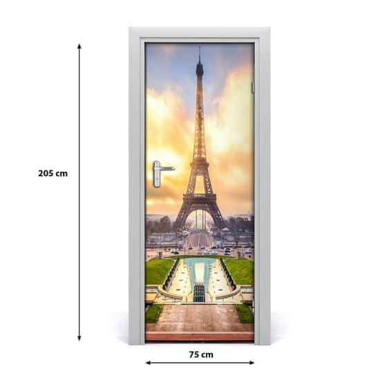 tulup.cz Fototapeta samolepiace na dvere Eiffelova veža 85x205cm