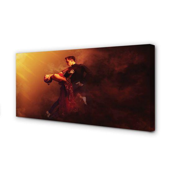 tulup.sk Obraz canvas Ľudia tancujú v daždi dym