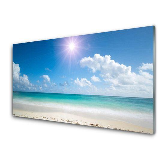 tulup.cz Obraz na skle More pláž slnko krajina 125x50cm
