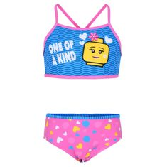 LEGO Wear lány kétrészes fürdőruha LW-12010086, 116, rózsaszín