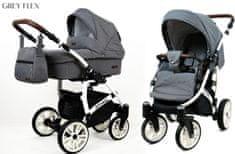 Sun Baby Kombinovaný kočárek 3v1 Raf-pol Optimal grey flex