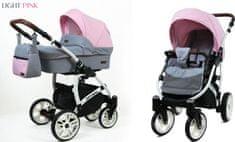 Sun Baby Raf-pol Optimal 3 v 1 kombiniran voziček, light pink