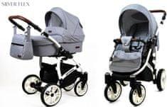 Sun Baby wózek spacerowy 3w1 Raf-pol Optimal silver flex