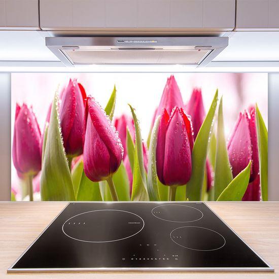 tulup.si Zidna obloga za kuhinju Tulipani cvetovi rastlin