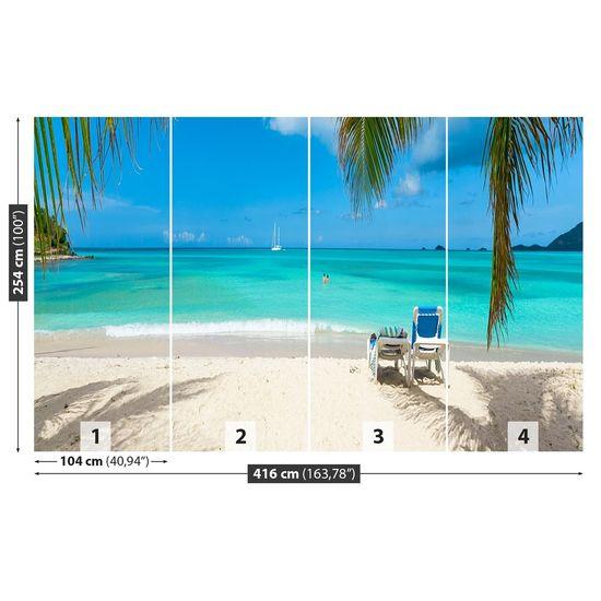 tulup.cz Fototapeta Samolepící Tropická pláž 416x254 cm
