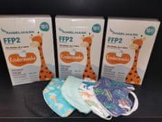 Dětský respirátor FFP2 NR pro kluky - 10 ks