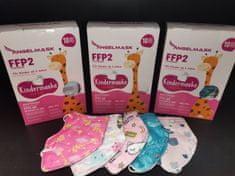 Dětský respirátor FFP2 NR pro holky - 10 ks