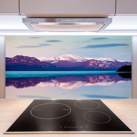 tulup.si Zidna obloga za kuhinju Mountain lake landscape