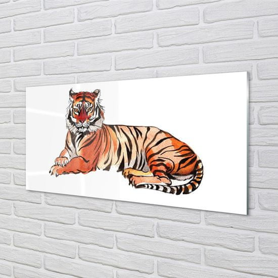 tulup.cz Sklenený obraz maľované tiger 100x50cm