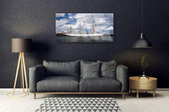 tulup.si Steklena slika Boat vode landscape
