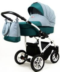Sun Baby Raf-pol Queen 3 v 1 kombiniran voziček, ocean green