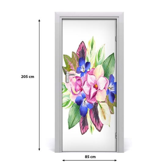 tulup.cz Samolepiace fototapety na dvere Kytice kvetov 95x205cm