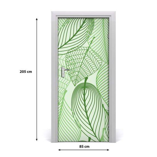 tulup.cz Samolepiace fototapety na dvere Zelené lístie 95x205cm