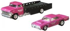 Hot Wheels zestaw Team Transport 25 - Dodge samochód transportowy i wyścigowy