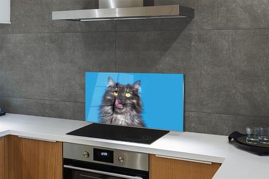 tulup.si Stenska plošča za kuhinjo Oblizujący mačka