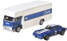 Hot Wheels zestaw Team Transport 24 - Corvette samochód transportowy i wyścigowy