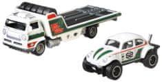 Hot Wheels zestaw Team Transport 23 - Volkswagen samochód transportowy i wyścigowy