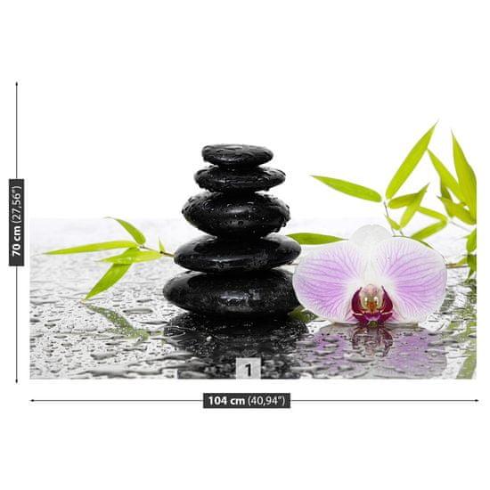 tulup.cz Fototapeta Samolepící Kamene a orchidea 104x70 cm