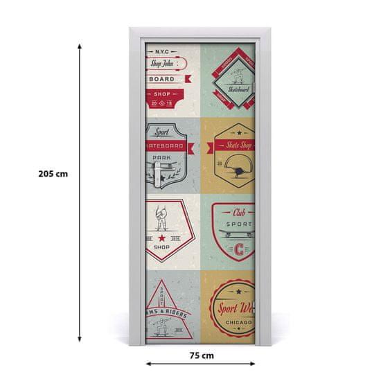 tulup.cz Samolepiace fototapety na dvere Skateboard znaky 85x205cm