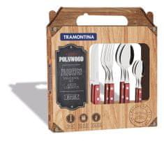 Tramontina CHURRASCO příbor steakový 24ks červené dřevo