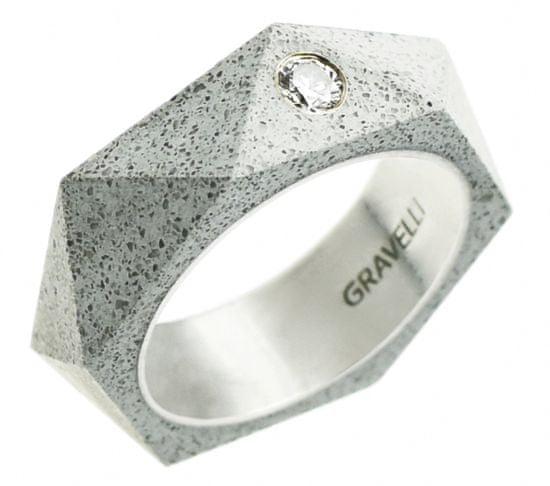 Gravelli Betonový prsten antracitový Cubist GJRUSSA005