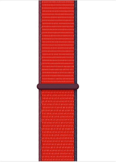 Apple pašček za uro Watch Series, športen, 44 mm, rdeč (MG463ZM/A)(PRODUCT RED)