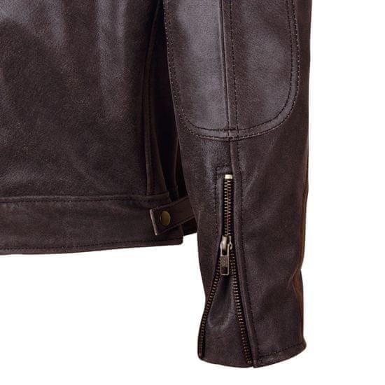 BOS Kožená moto bunda BOS 2058 hnědá Velikost: Barva hnědá, Velikost S