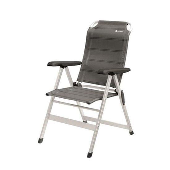 Outwell Ergo Prime Ontario stol, zložljiv, siv
