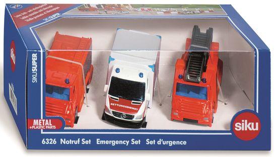SIKU Super komplet reševalnih vozil, 3 kosi