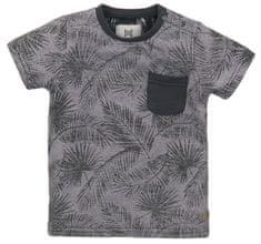 KokoNoko chlapčenské tričko - listy VK0221A, 104, sivá
