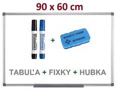 Magnetická popisovacia tabuľa 90x60 cm - sada tabule, fixky, houba