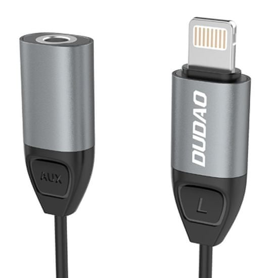 DUDAO L17 adapter Lightning / 3.5mm mini jack, siva