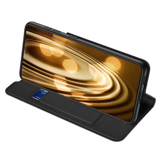 Dux Ducis Skin Pro knižkové kožené puzdro na Samsung Galaxy S21 Ultra 5G, čierne