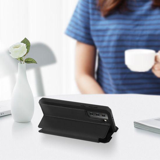 Dux Ducis Skin X knjižni usnjeni ovitek za Samsung Galaxy S21 5G, črna