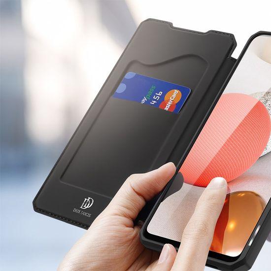 Dux Ducis Skin X knižkové kožené puzdro na Samsung Galaxy A42 5G, čierne