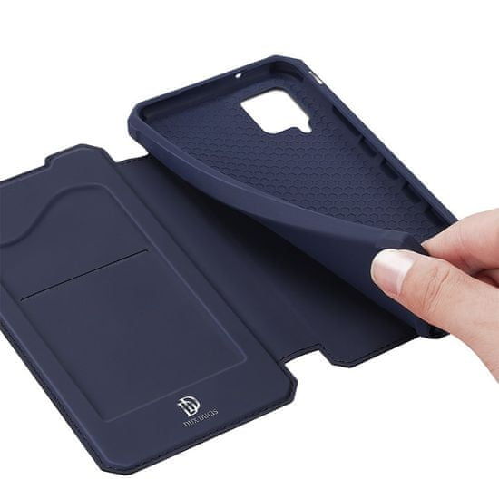 Dux Ducis Skin X knjižni usnjeni ovitek za Samsung Galaxy A42 5G, modro