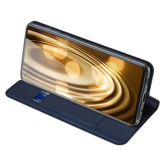 Dux Ducis Skin Pro knjižni usnjeni ovitek za Samsung Galaxy A21S, modro