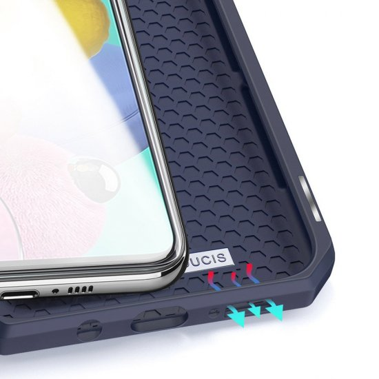 Dux Ducis Skin X knjižni usnjeni ovitek za Samsung Galaxy A51 5G, modro