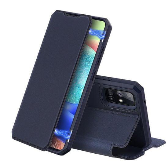 Dux Ducis Skin X knjižni usnjeni ovitek za Samsung Galaxy A71 5G, modro