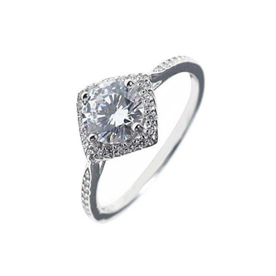 JVD Sodoben srebrni prstan s cirkoni SVLR0331XH2BI srebro 925/1000