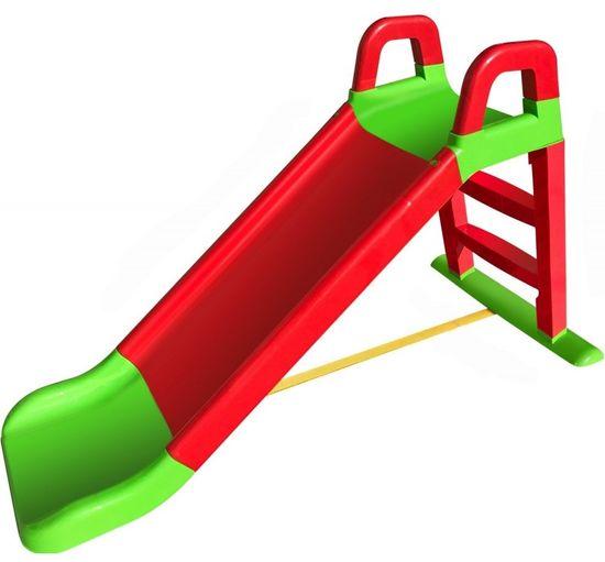 Doloni tobogan 140 cm, crveno-zeleni
