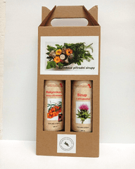 Rakytníkový krámek Dárkový set - sirup z rakytníku s Echinacea a sirup z ostropestřce