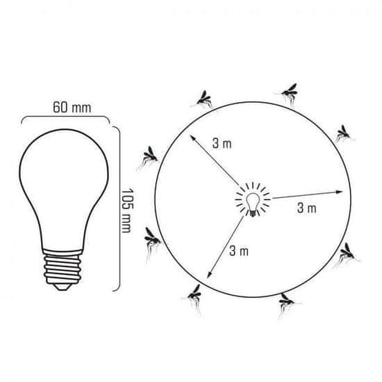 megamiska LED sijalka proti mrčesu E27 4W 230V Anti-Insect