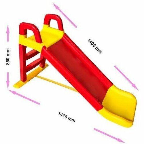 Doloni zjeżdżalnia 140 cm czerwono-żółta