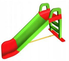 Doloni tobogan, 140 cm, zeleno-crveni