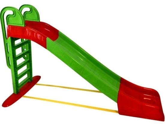 Doloni tobogan, 243 cm, zeleno-rdeč