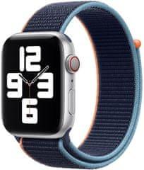 Apple řemínek pro Watch Series, provlékací sportovní, 44mm MYA82ZM/A, tmavě modrá