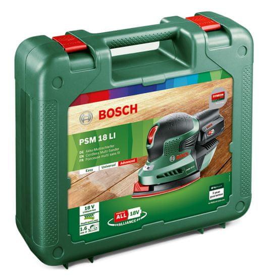 Bosch akumulatorski večnamenski brusilnik PSM 18 LI Set (06033A1323)
